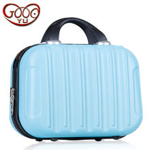New Korean version of the 14-inch ABS cosmetic bag hand-held portable, waterproof multicolor storage bags(China)