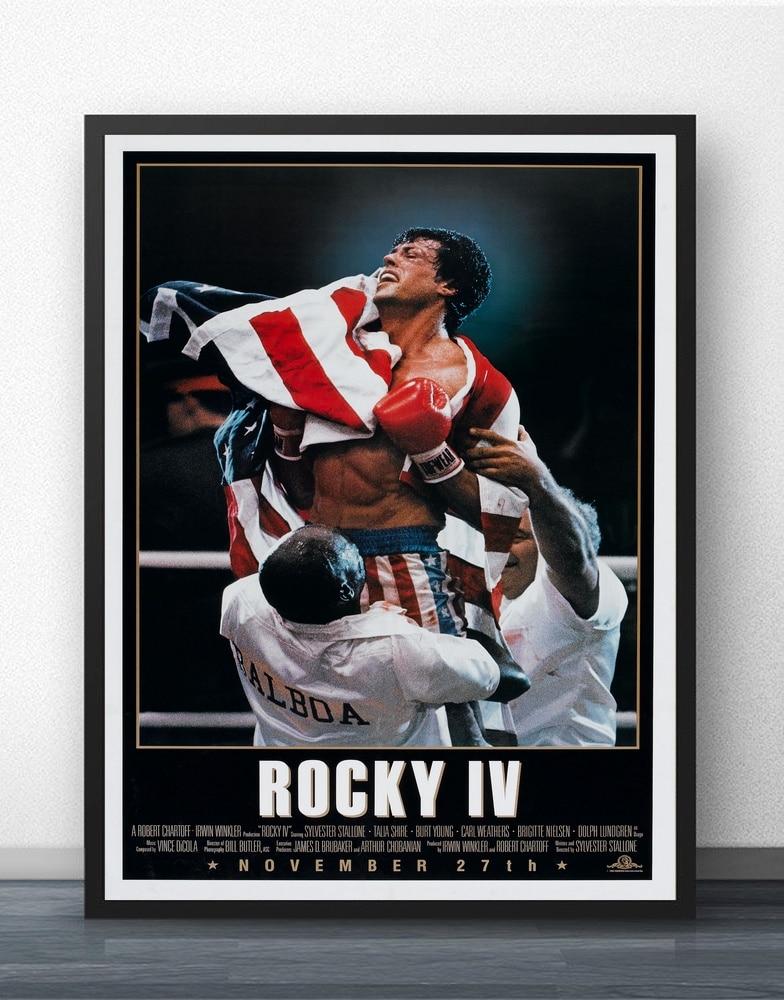 canvas Rocky Balboa vs Apollo Creed Movie Art print poster