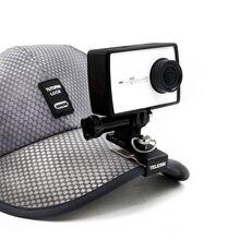 Телесин рюкзак клип Hat клип шапочка Зажим стенд креплением для Xiaomi Yi 4 К, 4 К +, SJ4000/SJ5000/SJ6000/SJ7000, GoPro действие Камера