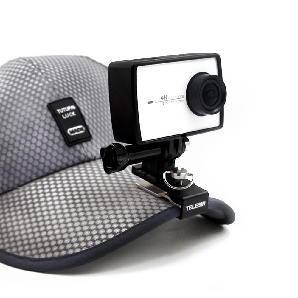 TELESIN Backpack Clip Hat Clip Cap Clamp Stand Mount for Xiaomi YI 4K, 4K+, SJ4000/SJ5000/SJ6000/SJ7000, GoPro Action Camera