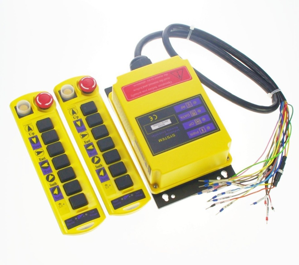 все цены на 1 Speed 2 transmitter Control Hoist Crane Radio Remote Control System Controller онлайн