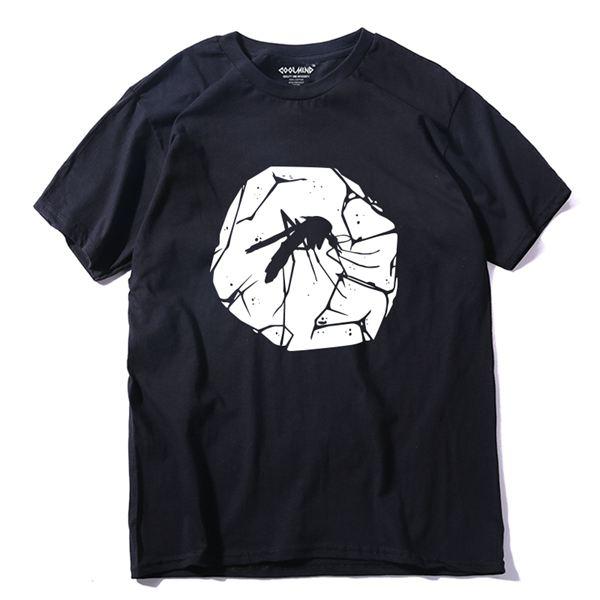 COOLMIND QI0252A 100% cotton short sleeve Mosquito fossils print men T shirt casual summer tshirt cool t-shirt tee