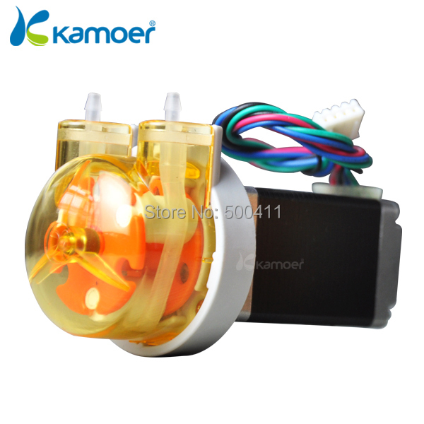 Kamoer KAS Peristaltic Pump 12V Stepper Motor Water Pump (Free Shipping, PCB Control Support, Precise Control, Digital Control) kamoer kcs mini peristaltic pump stepper motor 24v electric water pump