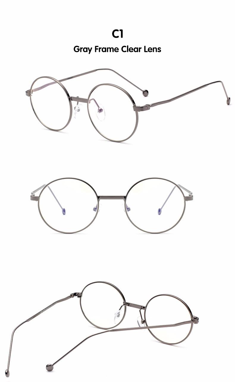 e3437380c71 DIDI Anti-Radiation Small Round Clear Eyeglasses Women Men Metal Thin  Optics Anti-Fatigue Prescription Frames Circle Lens W592. 1 2 3 4 ...
