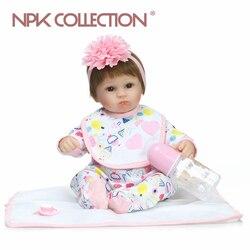 NPKCOLLECTION lifelike boneca reborn baby doll realista bebê reborn silicone hot jogando brinquedos para crianças Presente de Natal popular