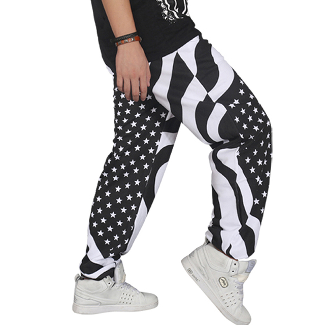 Marca casual ao ar livre masculino masculino homens hip hop dança harém corredores de Trilha Sweatpants Baggy Solto Calças Plus Size XXXL 09