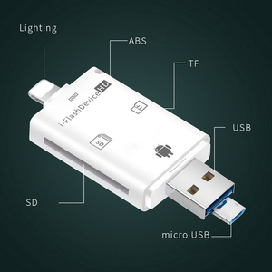 Image 2 - Multi In 1 TF USB Memory Adapter For Micro SD Card Reader Adapter For Flash Drive Multi OTG Reader For iPhone 5 5S 5C 6 7 8