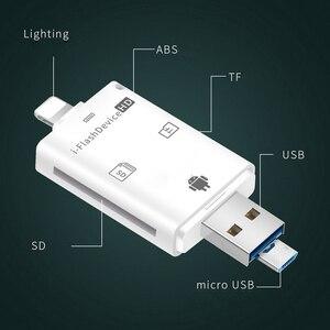 Image 2 - Çoklu 1 TF USB bellek adaptörü için Micro SD kart okuyucu adaptörü Flash sürücü çoklu OTG okuyucu iPhone 5 5S 5C 6 7 8