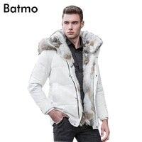 Batmo 2019 winter High Quality duck down jacket men coat parkas thick Liner male Warm Clothes Rabbit fur collar ,PLUS SIZE 828