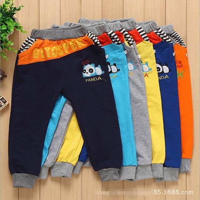 fd339c16d 2015 children clothing 2-5T Casual Sports Pant leisure track pants long pants  kids winter trousers cartoon panda boys pants