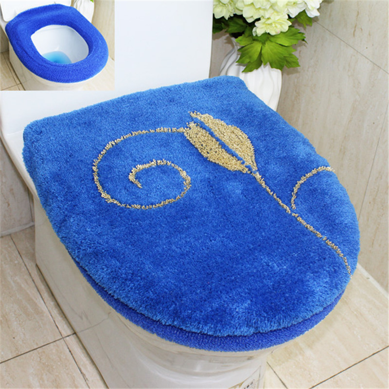 New Fashion Huiduo Soft Flock Printing Toilet 2pcs Set Toilet Seats - Household Merchandises - Photo 3