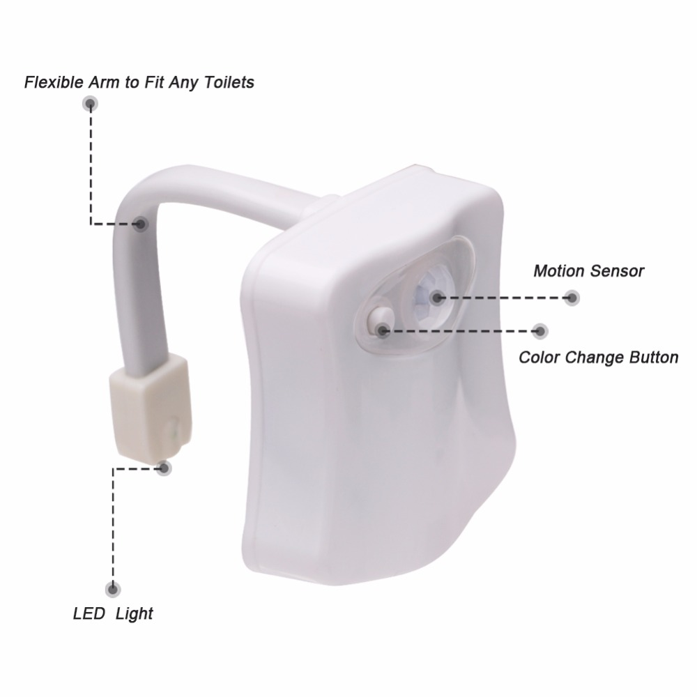Bathroom Lighting Motion Sensor: Lighting Toilet Bowl Bathroom Led Night Light Human Motion