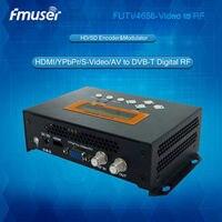 FUTV4656 DVB-T/DVB-C (QAM)/ATSC MPEG-4 AVC/H.264 HD энкодер, модулятор (тюнер, HDMI, YPbPr/CVBS/s-видео в RF выход) usb-устройства для дома Применение