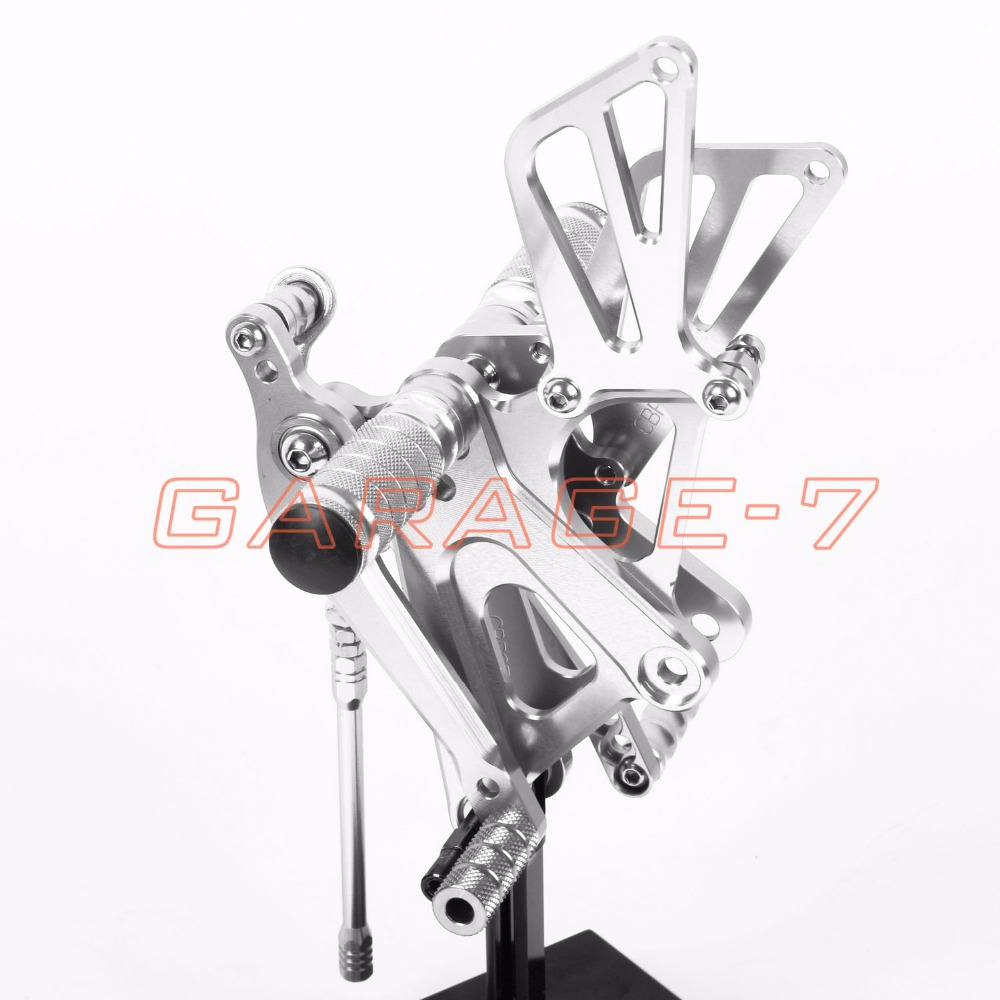 Aluminum alloy CNC Rearsets Adjustable Foot Rests Rear Set Silver For HONDA CBR250RR 2010-2013 2012 2011 Motorcycle Foot Pegs