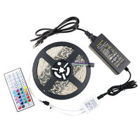 5050 Waterproof Led Strip Lighting RGB Color Sets Flexible Rope 44key RGB LED Controller 12V 5A