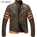 Hanmiis X - человек оборотень логан из натуральной кожи мужской первый слой кожи толстый слой мотоцикл кожаная куртка