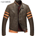 Hanmiis  X-man Werewolf Logan Genuine Leather Male First layer of Leather Thick Coat Motorcycle Leather Jacket