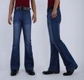 Bell bottom jeans hombres de la Moda europea verano Otoño pantalones delgados pequeños pantalones de corte para botas de mezclilla ocasional masculina Mini quemado los pantalones vaqueros
