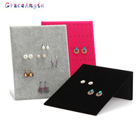 Fashion Good Craf Stud Earring Collection Jewelry Show Page Jewel Display Creative Jewelry Storage Box Organizer