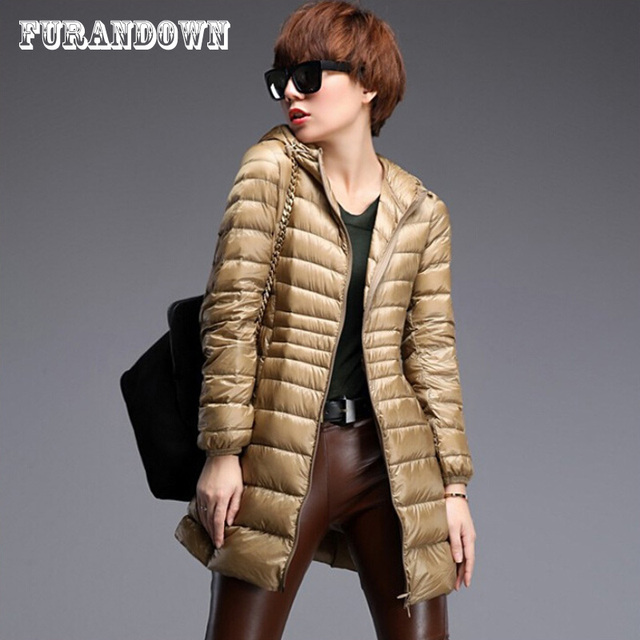 Aliexpress.com : Buy 2017 Winter Women Long Down Jackets Fashion ...