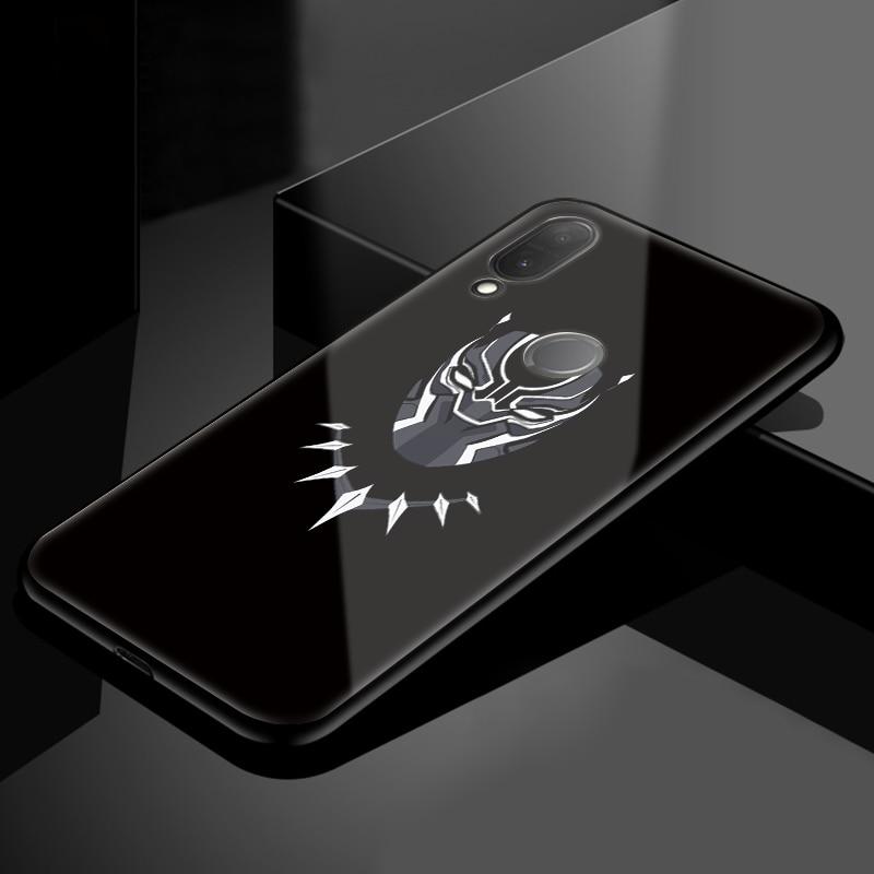 ארס איש ברזל מארוול מזג זכוכית כיסוי עבור Huawei P20 לייט P חכם P9 P10 בתוספת פרו Mate 20 פרו 10 Lite TPU Y9 2019 2018 מקרה