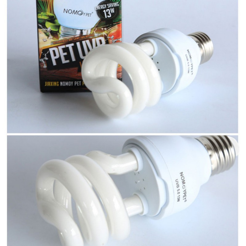 Pet Reptile Light Glow Lamp Heat Emitter Ultraviolet Light Bulb E27 5.0 10.0 UVB 13W Daylight Bulb for Tortoise Fish Amphibians