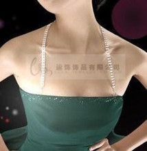 Metal Adjustable Silver Crystal Bra Shoulder Strap