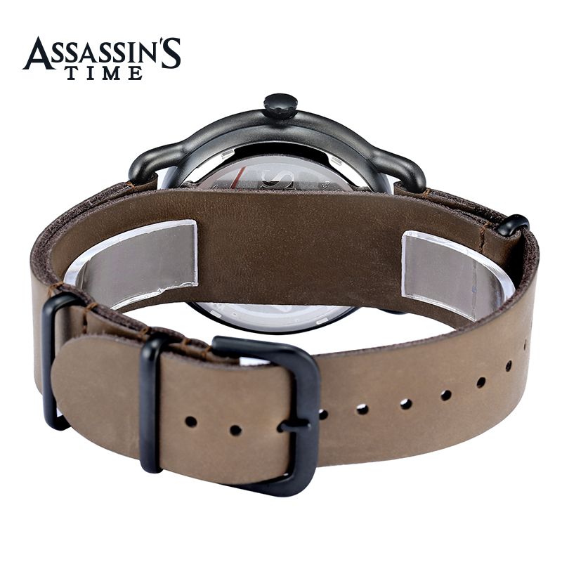 Assassins Time Top Brand Watch Män Quartz Watch Luxury Black Äkta - Herrklockor - Foto 5