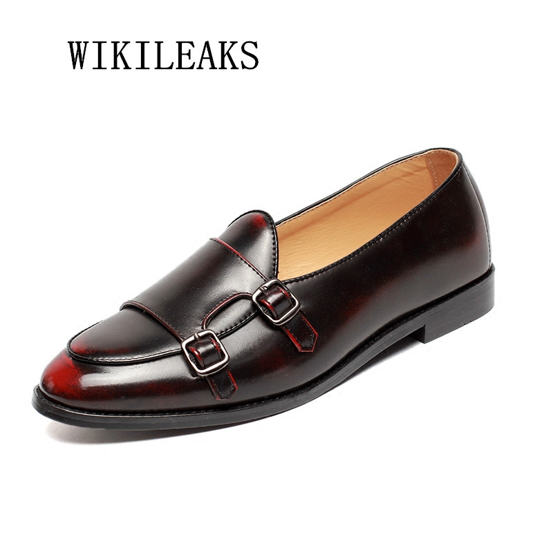 high quality men shoes leather buckle oxford shoes for men office business shoes sapatos masculino formal mariage dress shoes