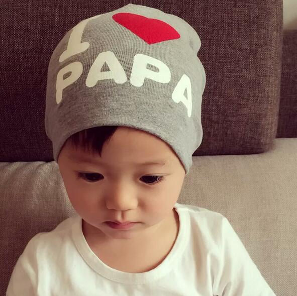 626be40a38d New Arrival Children s Cotton Hats Love PAPA MAMA Caps for little boys  gilrs Kids Spring fashion hat Boys caps free shipping