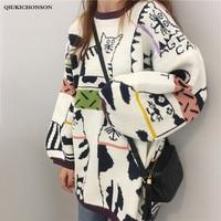 Super Cute Kawaii Cartoon Cat Sweater Women Autumn Winter Loose Long Pullovers Knitted Sweater Plus Size Knitwear Jumpers Ladies