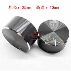 2 sztuk 25x13mm 6mm otwór wału ze stopu aluminium ze stopu aluminium pokrętło potencjometru głośności pokrętło sterujące