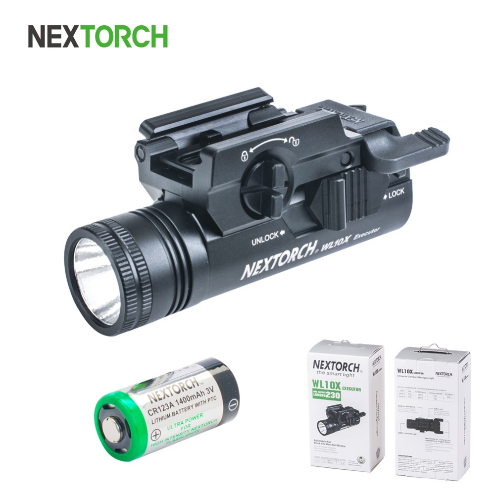 NEXTORCH Flashlight Waterproof Shockproof Bulb 230 Lumen CE TACTICAL WL10X
