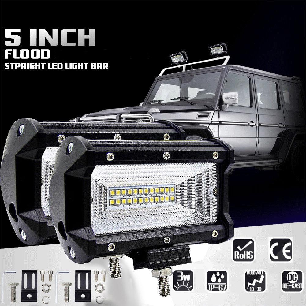 5INCH 72W LED WORK LIGHT BAR FLOOD LIGHT 12V 24V CAR TRUCK SUV BOAT ATV 4X4 4WD TRAILER WAGON DRIVING LED Fog Light