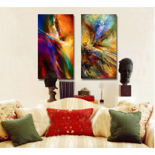 Modern Abstract Oil Painting 2pc HD Print on Canvas Home Wall Decoration No Framed Christmas Gifts