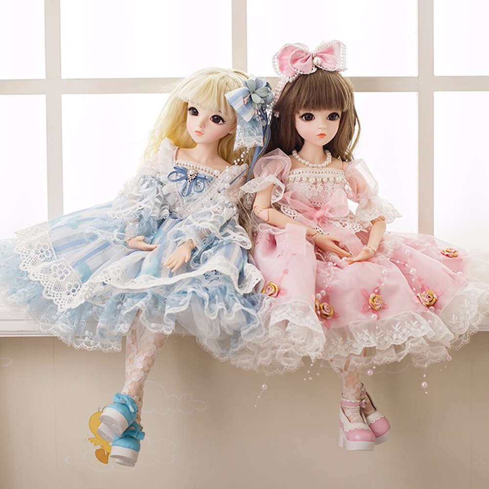 """22/"""" BJD 1//3 Girl Dolls With Clothes Wigs Shoes Handmade Kids Toy Birthday Gift"""