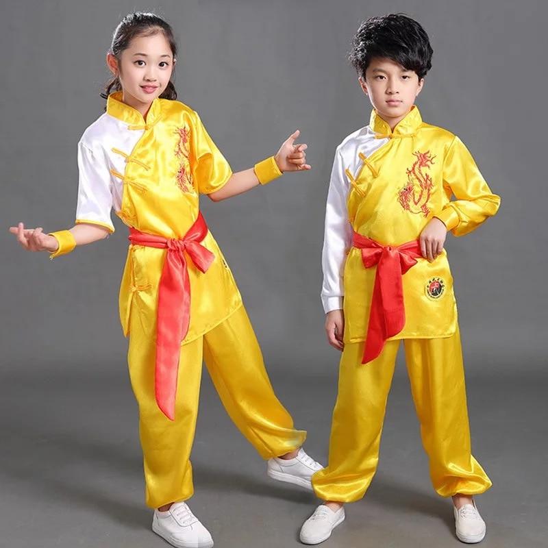 Bjj Kimono Jiu Jitsu Short Sleeve Chinese Colourful Silk Performing Kungfu Uniforms Taichi Uniforms With Embroidery