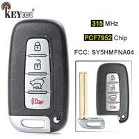 KEYECU 315MHz PCF7952 Chip FCC: SY5HMFNA04 Smart 3+1 4 Button Remote Key Fob for Kia Sportage Soul, for Hyundai Elantra Genesis
