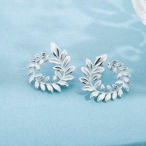 SA SILVERAGE 925 Silber Wicker Ohrstecker für Frauen Edlen Schmuck Große Neue Silber Ohrringe Weiblichen Trendy Ohrringe
