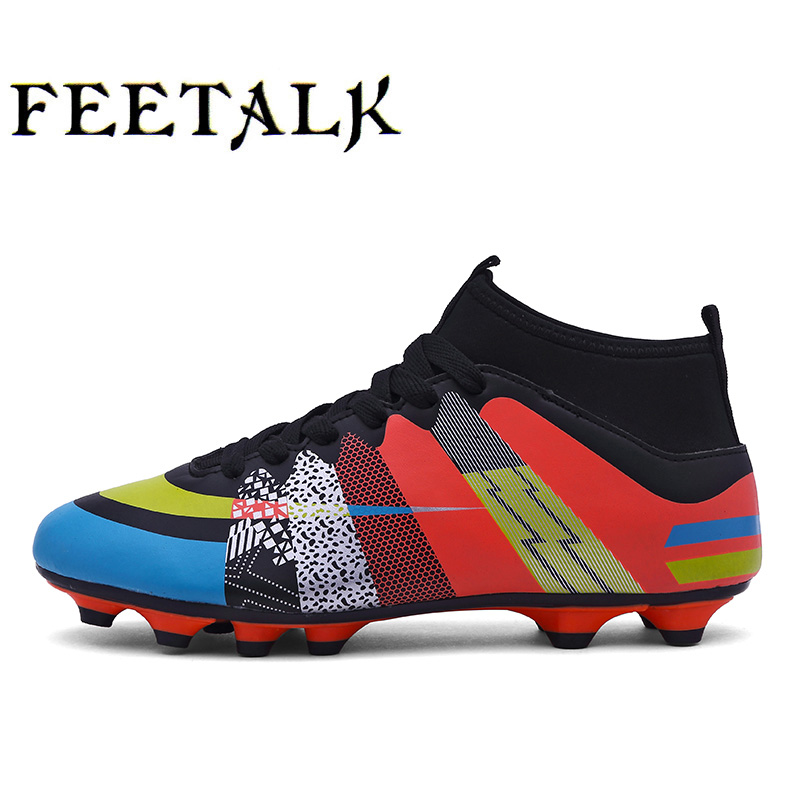 2017 High Ankle Kids Football Boots Superfly Original Cheap Soccer Football Shoes Cleats Boys Girls Sneakers High Quality