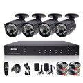 ZOSI 4CH CCTV Система 720 P DVR 4 ШТ. 1200TVL ИК Всепогодный Открытый CCTV Камеры Безопасности Дома Системы Видеонаблюдения Комплекты