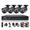 ZOSI 4CH CCTV System 720P DVR 4PCS 1200TVL  IR Weatherproof Outdoor CCTV Camera Home Security System Surveillance Kits