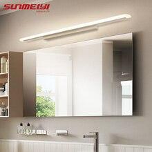 Espejo frontal LED acrílico moderno, lámparas de pared para maquillaje, baño, tocador, montado en la pared, accesorio de iluminación