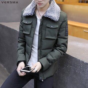 VERSMA 2017 Korean Slim Fit Winter Men Jacket Coat Parka Youth Men Winter Thick Parkas Jackets Coats Jaqueta Masculina Inverno