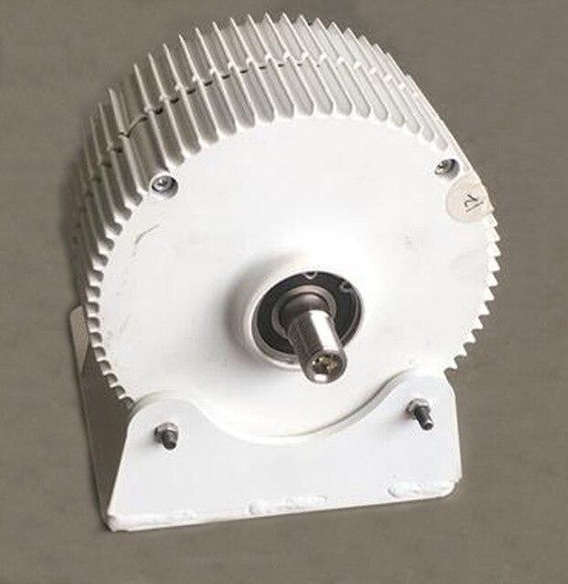 Générateur ac à aimant Permanent sans brosse 12 V 24 V 48 V 300 W avec Base, 600 tr/min et faible couple de démarrage PMG
