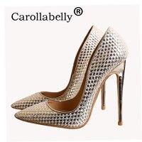 65d405ed9 ... Alto mulheres bombeia sapatas Vestido Casamento festa. Carollabelly  Women High Heels Women Pumps Stiletto Thin Heel Women Shoes Silver Pointed  Toe High ...