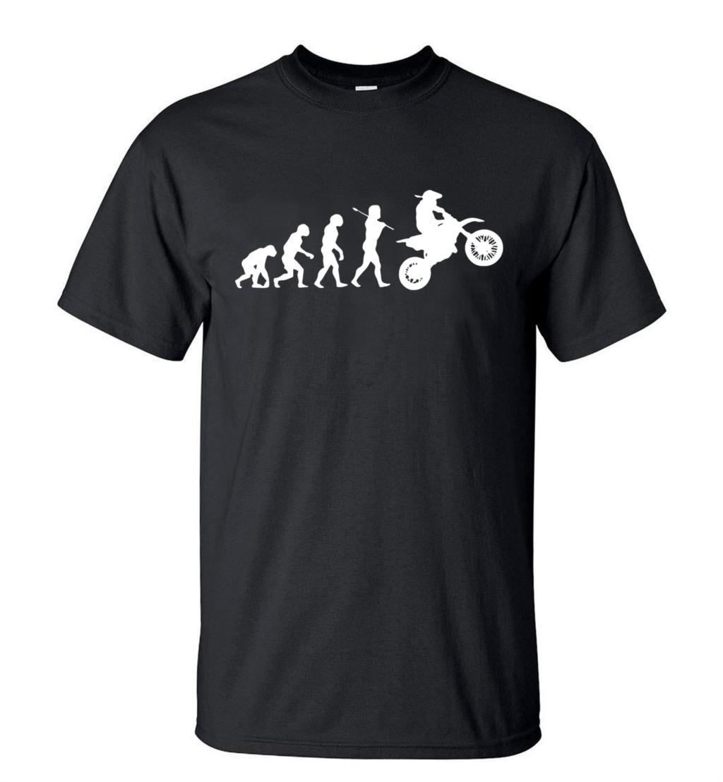 Funny Dirtbike Evolution Motocross Men T Shirt 2019 Summer Fashion Short Sleeve O Neck Hipster T-shirt Casual Hip Hop Top Tees