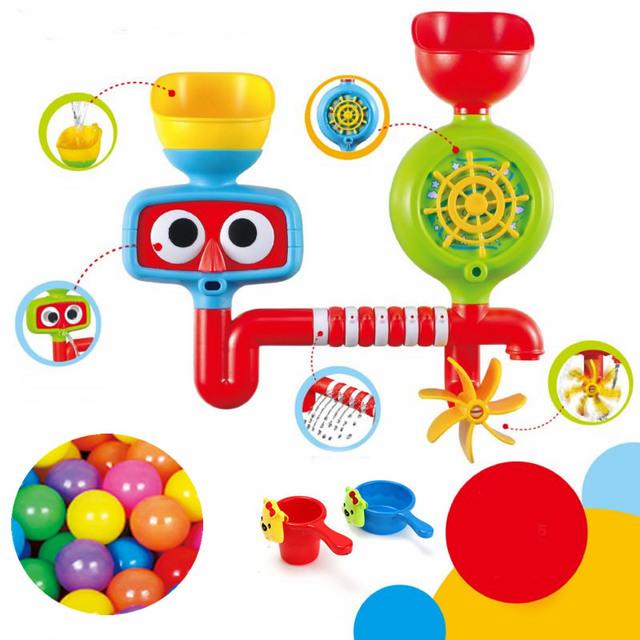 Encantadores Juguetes Del Baño Del Bebé Ducha Grifo de la Tina de Baño De Goma Herramienta de Pulverización de Agua Que Salpica Toyswiming piscina Niños juguetes Para Niños