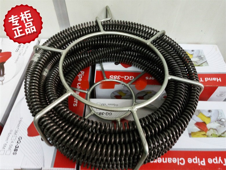 Doux Arbre D'égout Serpent Machine Accessoires Doux Arbre 16mm (16mm x 2.5 m 7 pcs & 15mm x 2.5 m 1 pcs) 20 mètres