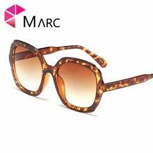 MARC Trendy Sunglasses Women Ocean Ladies Shades Brand New Oversized Big Frame Sun Glasses Female UV400 Eyewear Square Shield